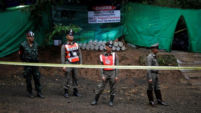 Thailand holds its breath as workers rescue boys from a cave
