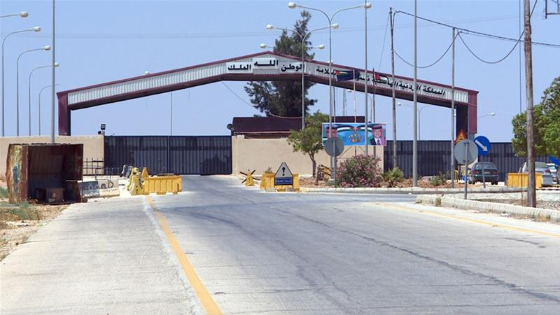 The Nasib-Jaber crossing was previously a bustling free trade zone between Jordan and Syria [Arwa Ibrahim/Al Jazeera]