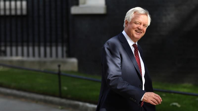 David Davis said he does not want to be a 'reluctant conscript' to a plan for Brexit agreed to on Friday [File: Simon Dawson/Reuters]