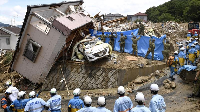 According to reports, most of the fatalities in the flooding were from the southwestern Hiroshima Prefecture [Kyodo/Reuters]