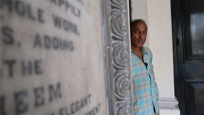 Siraj Khan is a caretaker at the Beth El synagogue. Kolkata's synagogues have always had Muslim caretakers, most of whom come from neighbouring states [Jenny Gustafsson/Al Jazeera]