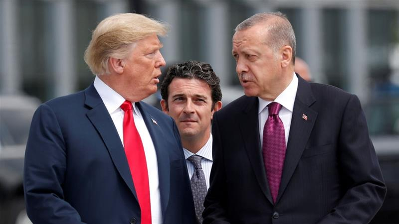 Trump and Erdogan discuss 'slow' US military pull-out from Syria
