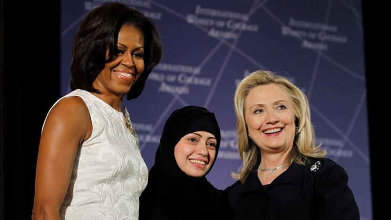 Badawi has received the United States' International Women of Courage Award in 2012 [Gary Cameron/Reuters File Photo]