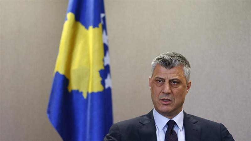 Thaci said an agreement on 'mutual recognition' with Serbia must be reached as soon as possible [File: Hazir Reka/Reuters]