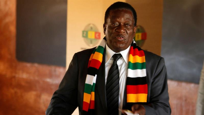 Zimbabwe's Mnangagwa wins 1st post-Mugabe election