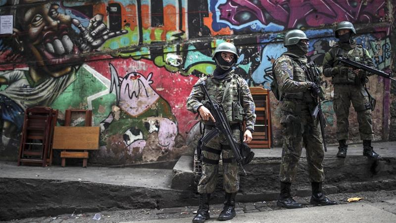 Brazil's armed forces were authorised in February to take over policing duties in Rio de Janeiro [File: Antonio Lacerda/EPA/EFE]