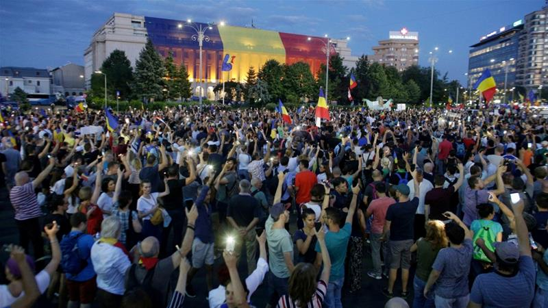 Thousands of Romanians joined an anti-government rally in capital Bucharest in August [File: Octav Ganea/Inquam Photos via Reuters]