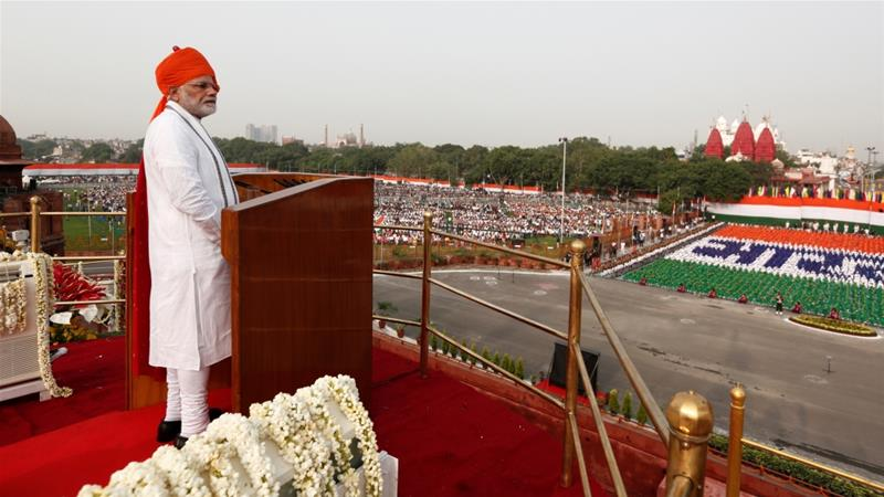 Modi made the announcement during a speech marking the country's independence day