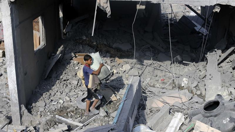 At least 135 Palestinians were killed in Rafah during the events of 'Black Friday' on August 1, 2014 [Ibraheem Abu Mustafa/Reuters]