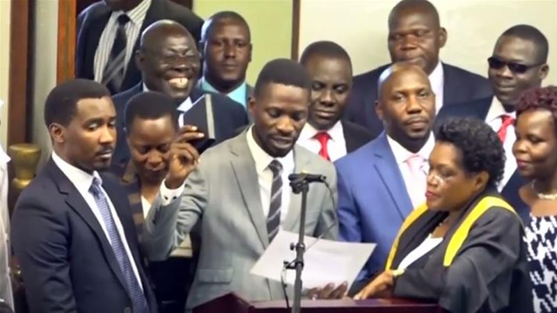 Uganda's Bobi Wine due to appear before a military court. 'for treason'