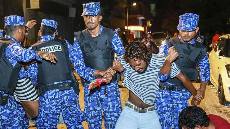 Earlier this year, a state of emergency was declared over a judicial dispute, which led to near-daily protests [Mohamed Sharuhaan/The Associated Press]