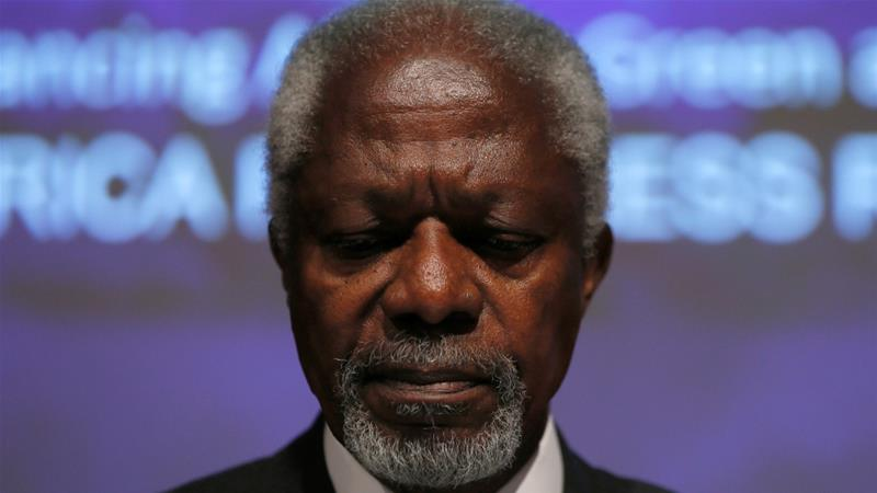 Kofi Annan, former United Nations secretary-general, dies at age 80