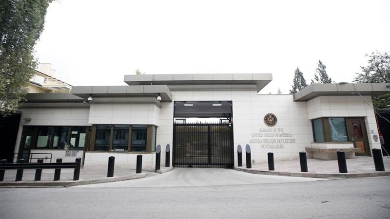 Ankara: Shots fired at USA  embassy in Turkey