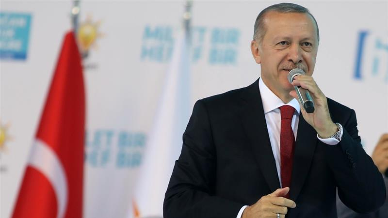 The Turkish president has refused to back down in the spat with the US [Adem Altan/AFP]