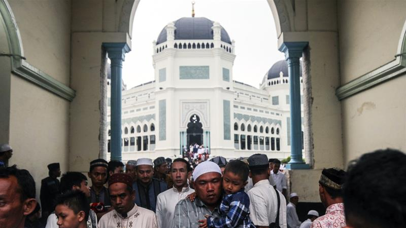 Muslims make up about 85 percent of Indonesia's population of more than 260 million people [Dedi Sinuhaji/EPA]