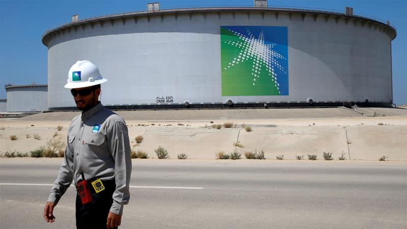 Saudi Arabia says oil giant Aramco's £1.5tn flotation is still on