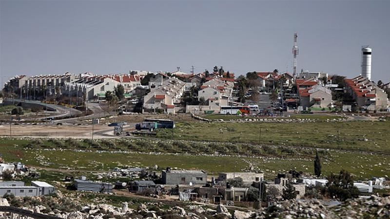 A general view shows the illegal Israeli settlement of Adam, near the Palestinian West Bank city of Ramallah [Thomas Coex/Getty Images]