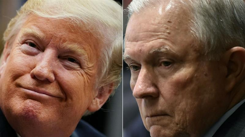 Sessions drew Trump's ire when he recused himself in March 2017 from issues involving the 2016 White House race