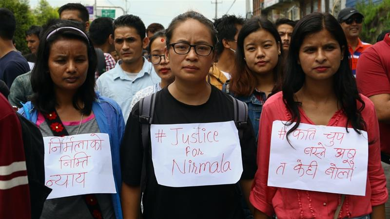 Nepali Activists In Kathmandu Also Took Part The Nationwide Protest Demanding Justice For Rape