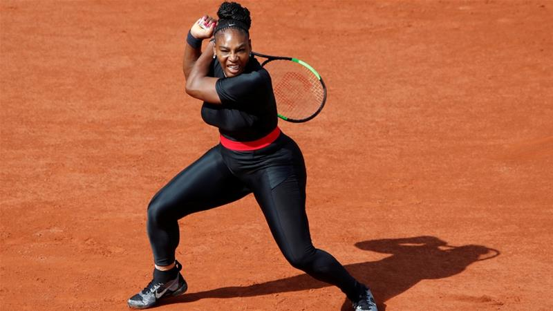 Serena Williams wore a catsuit designed to prevent post-pregnancy blood clots at the French Open last year [Christian Hartmann/Reuters]