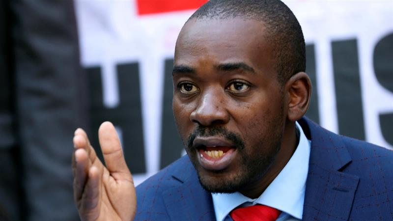 The opposition says Nelson Chamisa's 'inauguration' will take place at a latter date [File: Reuters]
