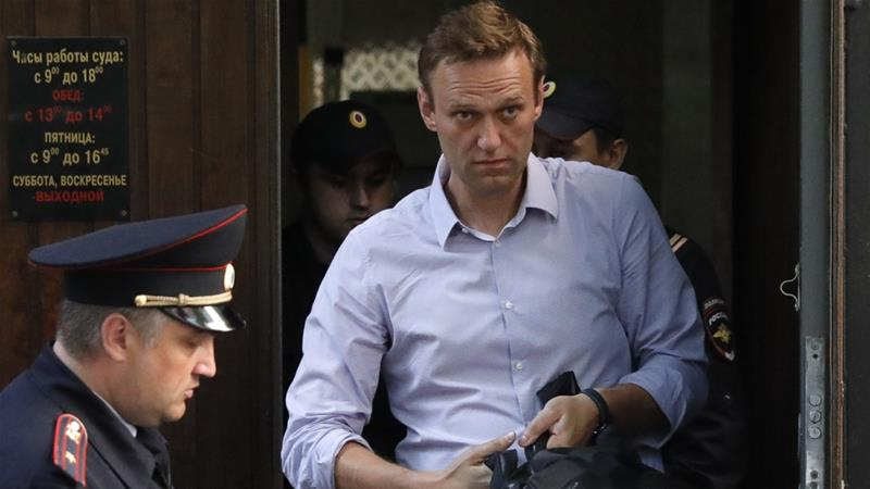 Alexei Navalny says detention extended for another 30 days
