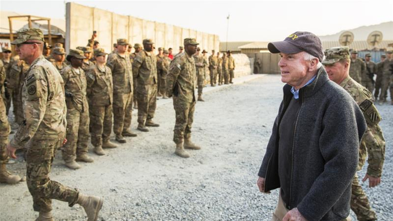 US Senator John McCain visits operating base Gamberi in the Laghman province of Afghanistan on December 25, 2014 [File photo: Reuters/Lucas Jackson]