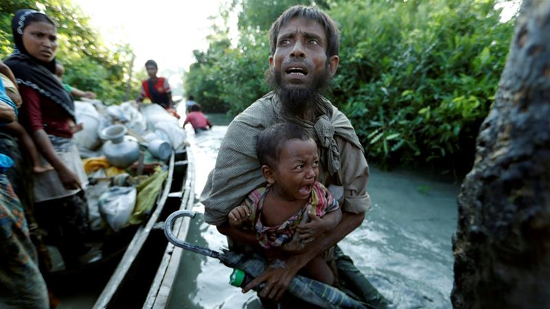About 700,000 Rohingya fled the Myanmar army crackdown