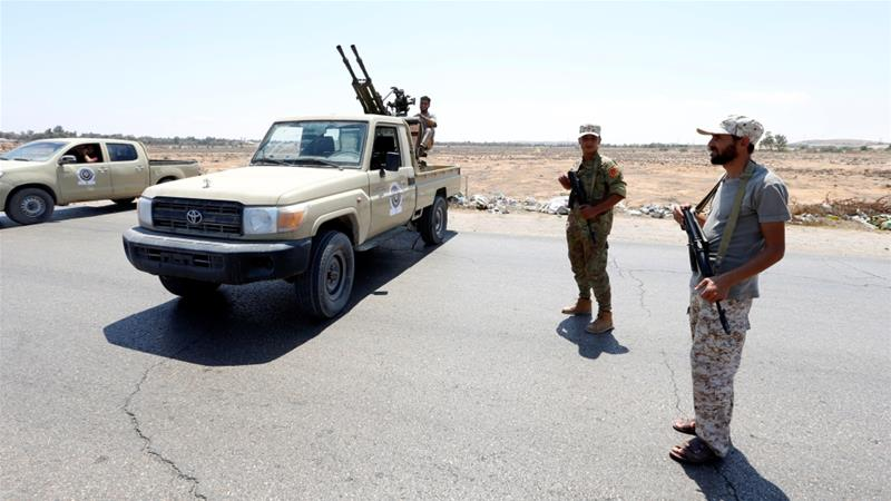 The clashes in Tripoli follow a deadly attack last week on a checkpoint in western Libya [Reuters]