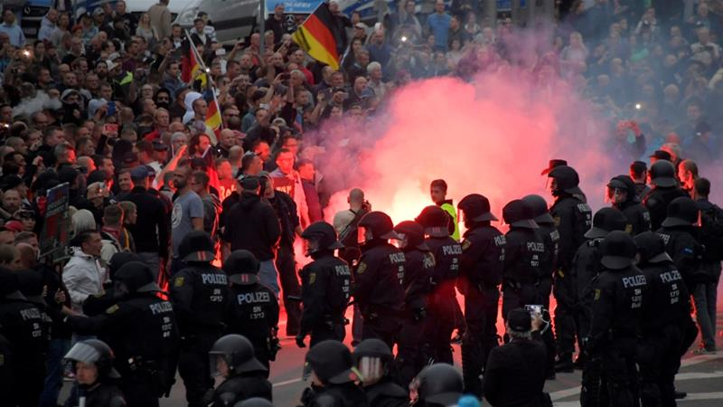 In Germany there were further clashes