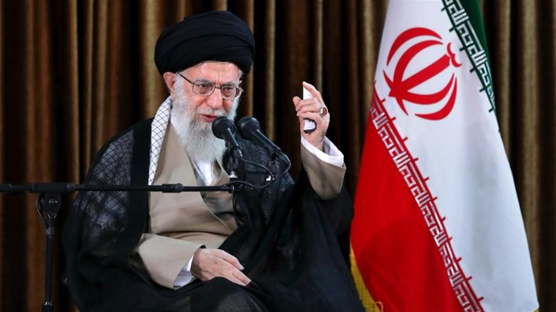 Khamenei's remarks came as Tehran tried to cope with the return of US sanctions [Supreme Leader Press Office/Anadolu]