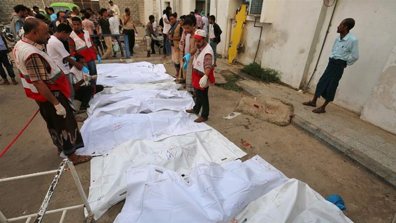 'It was a massacre': Dozens killed in Saudi air raids on Hodeidah