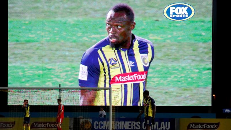 Usain Bolt makes professional football debut in Australia