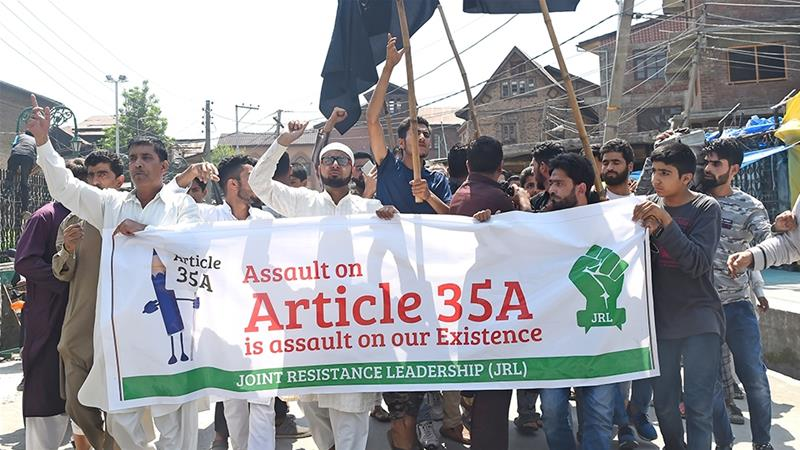 Residents worry that any change in the law will divert attention from Kashmir's political dispute [Tauseef Mustafa/AFP]