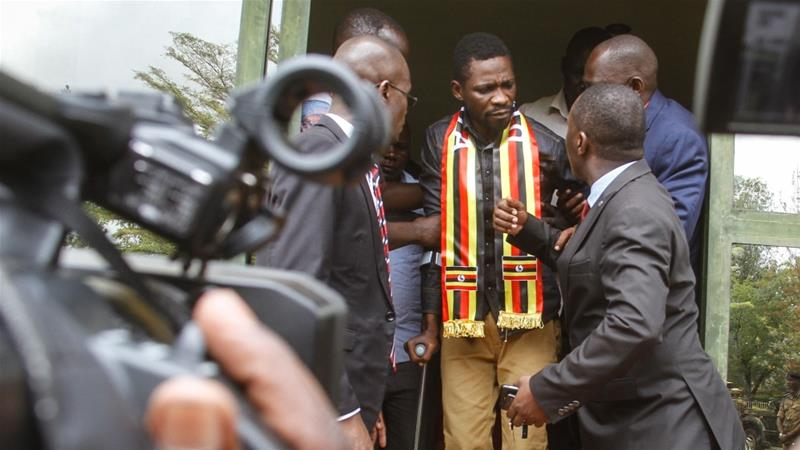 Ugandan pop star MP Bobi Wine arrested on arrival