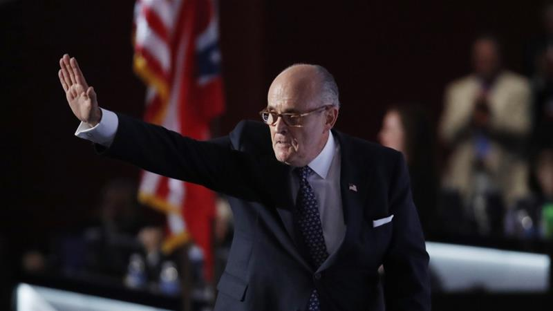 Dangerous charlatans like Rudy Giuliani has had many reincarnations in the immediate US and European past, writes Dabashi [Reuters]