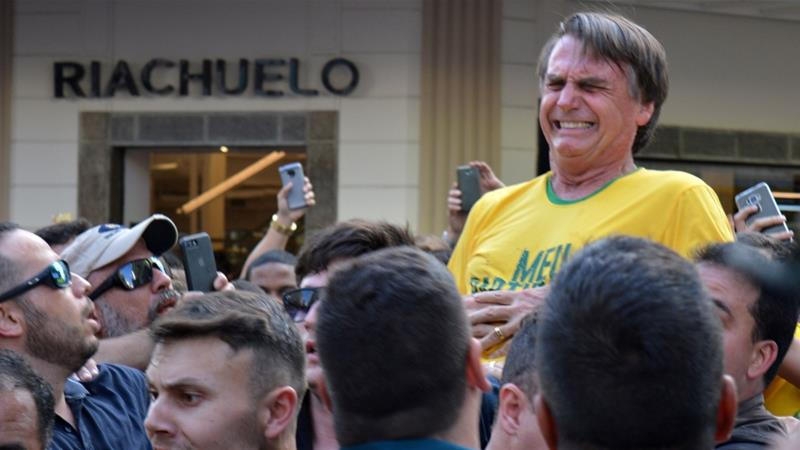 Bolsonaro has remained confined to a Sao Paulo hospital since the attack against him [File: Raysa Campos Leite/Reuters]