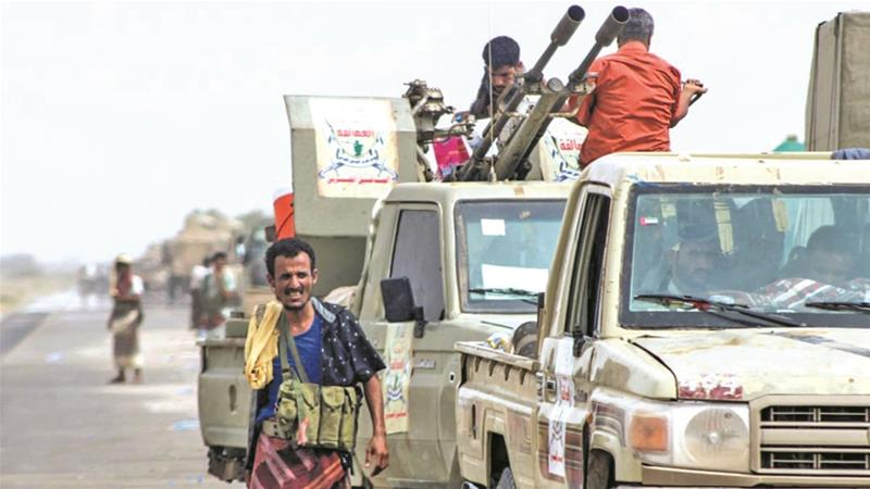 Kilo 16 is the Houthis' main supply route linking Hodeidah city with the rebel-held capital Sanaa [Saleh al-Obeidi/AFP]