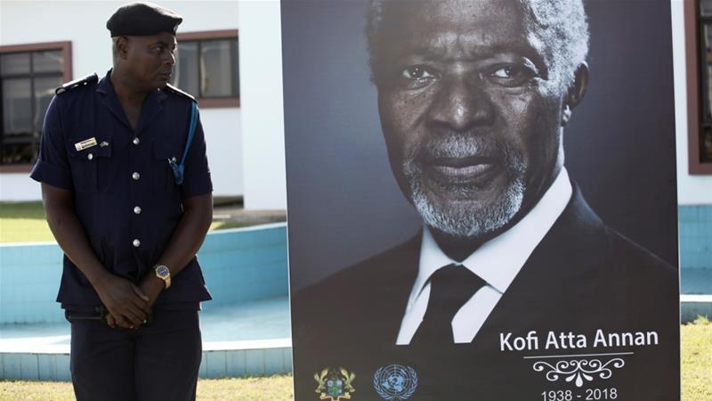 Former UN chief Kofi Annan laid to rest in Ghana