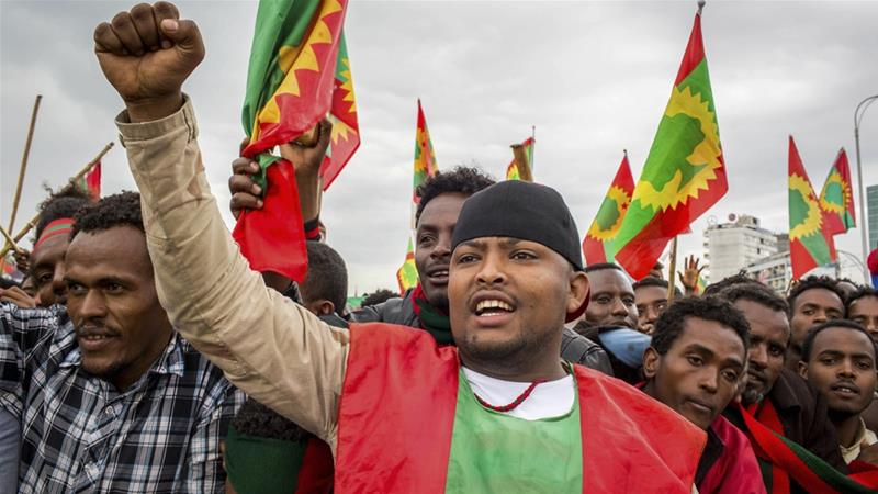 Thousands of Ethiopians hail return of once-banned Oromo group