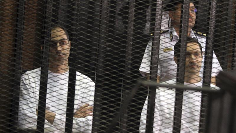 Two sons of Egypt's Mubarak arrested for 'stock manipulation'