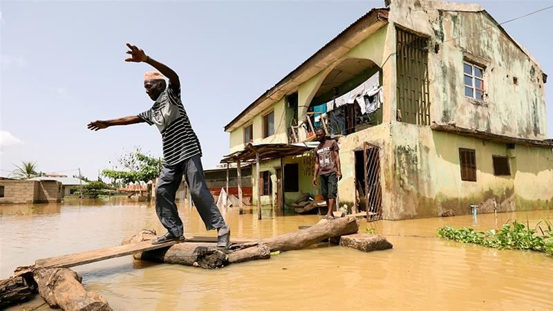 Heavy seasonal rains have displaced more than 250,000 people [Afolabi Sotunde/Reuters]