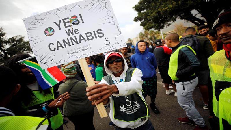 South Africa top court decriminalizes marijuana use