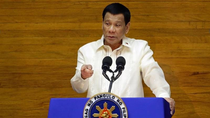 Duterte expressed support for a two-state solution to the Israeli Palestinian conflict