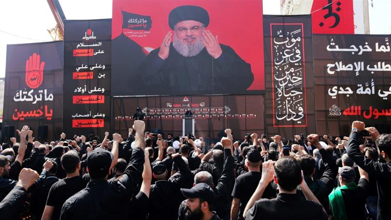 Nasrallah is known for his fiery speeches during Ashoura that challenge Israel [Aziz Taher/Reuters]
