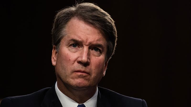 Kavanaugh was nominated by Trump in July [Salwan Georges/The Washington Post/ Getty Images]