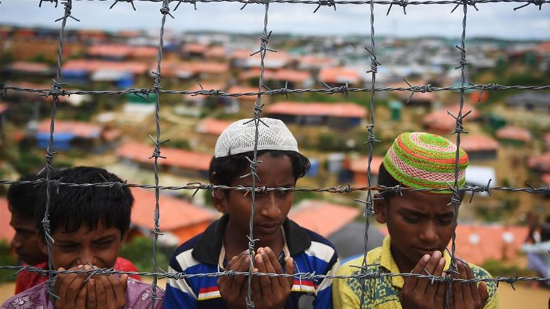 A UN fact-finding mission found crimes against humanity have been committed against the Rohingya [Dibyangshu Sarkar/AFP]