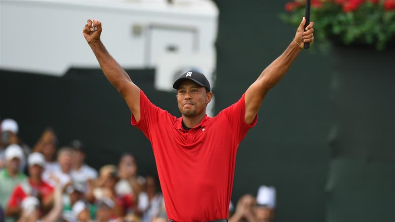 Athletes and fans hail Tiger Woods comeback victory in Atlanta