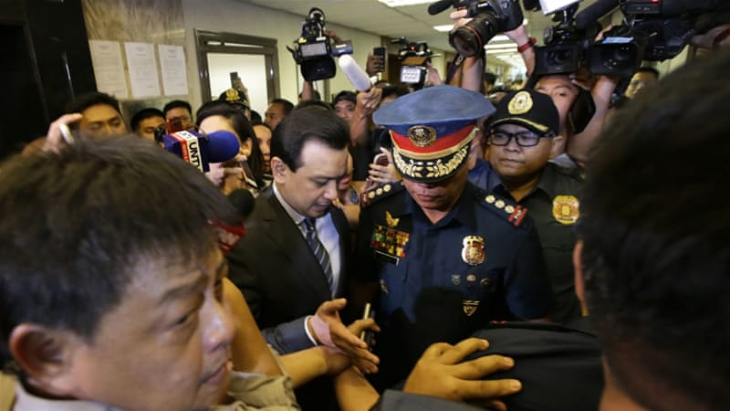 Senator Antonio Trillanes was arrested on charges of rebellion [AP]
