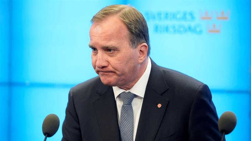 Lofven has been prime minister for four years [TT News Agency via Reuters]
